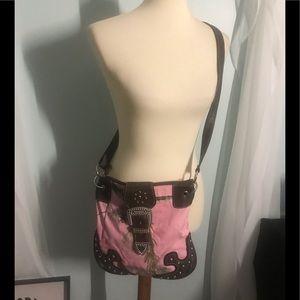 Pink RealTree Crossbody Bag